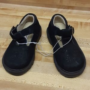 CHEROKEE Black Little Girls Dress Shoes